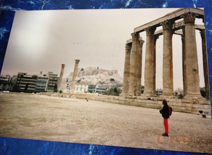 Athens -- Temple of Olympian Zeus with Acropolis in background