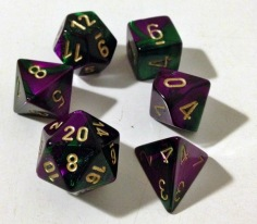 Full set of polyhedral dice