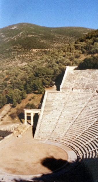 The magnificent theatre at Epidauros