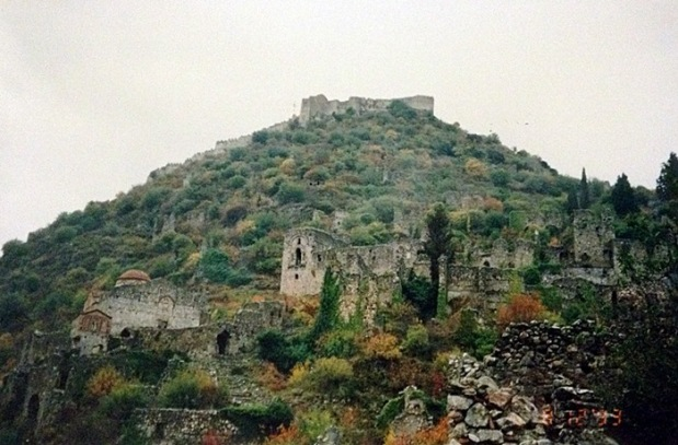 Mystras in the mist