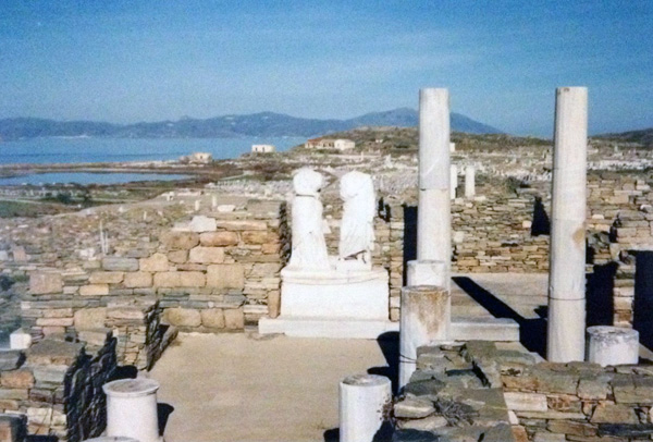 The isle of Delos - covered in archaeology