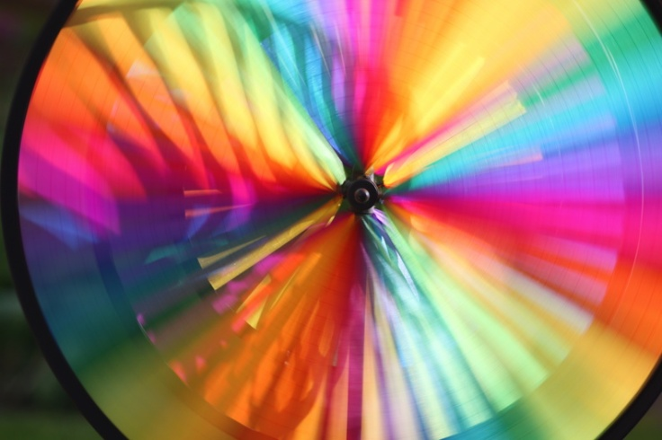 Colorful wind wheel