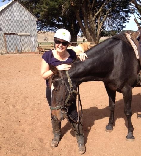 horse-scratching