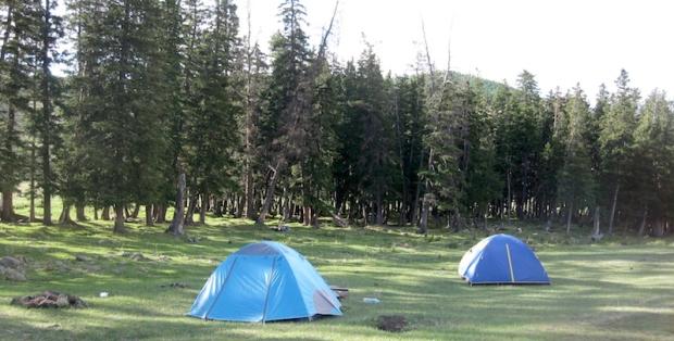 Day 1 campsite, Bogd Khan NP