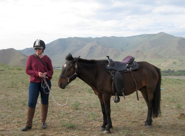 Day 4 - while waiting, we took photos! This is me with my horse.